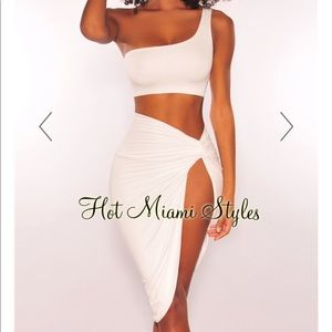 Unworn 2 piece Ivory Dress
